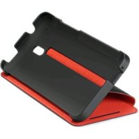 HTC HC V851 Flip Case black/red (HTC One Mini)