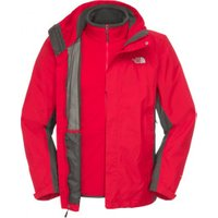 The North Face Men's Evolution II Triclimate Jacket Tnf Red / Asphalt Grey
