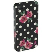 Accessorize Polka Dot / Flower Pattern Protective Case (iPhone 4/4S)