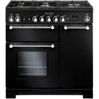 Rangemaster Kitchener 90 Dual Fuel Black