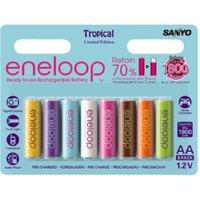 Sanyo eneloop Tropical Edition AA Mignon Akku 1,2V 1900 mAh (8 St.)