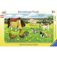 Ravensburger Farm Animals in The Meadow (15 Pieces)