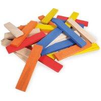 Vilac Coloured Wood Piece Set (100 Pieces)