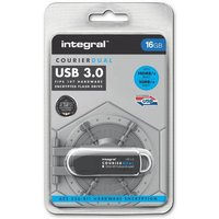 Integral Courier DUAL FIPS 197 Encrypted USB 3.0 16GB