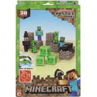Jazwares Minecraft Paper Craft Hostile Mobs (30 Pieces)