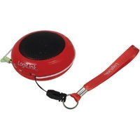 LogiLink Portable Active Speaker with Rechargable Battery red
