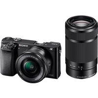 Sony Alpha 6000 Kit 16-50mm + 55-210mm Black
