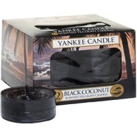 Yankee Candle Tea Lights Black Coconut (x12)