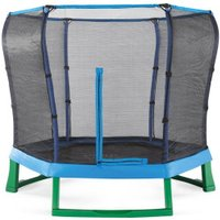 Plum Products 7ft Junior Trampoline and Enclosure - Blue/Green