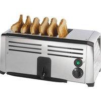 Burco TSSL16CHR 4 Slot Stainless Steel Commercial Toaster