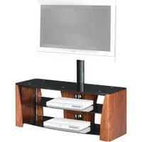 Premier Housewares 3 Tier TV Unit Walnut Black