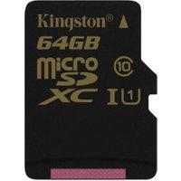 Kingston microSDXC 64GB Class 10 (SDCA10/64GBSP)