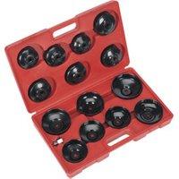 Sealey VS7003 Oil Filter Cap Wrench Set 15pc