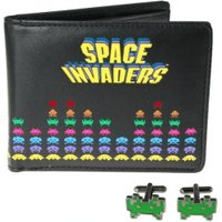 Fifty Concepts Space Invaders Wallet And Cufflink Set