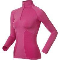 Odlo Shirt l/s 1/2 zip Evolution Warm Women magenta