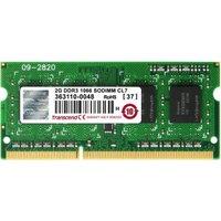 Transcend 2GB SO-DIMM DDR3 PC3-8500 CL7 (TS256MSK64V1N)