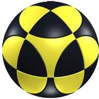 Marusenko Sphere Level 1 3D Puzzle (Black and Yellow)