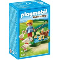 Playmobil Boy with Ducks and Geese on the Pond 6141