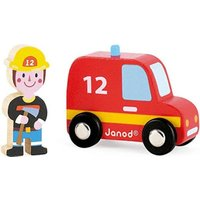 Janod Fire Fighter And Car (08568)