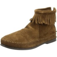 Minnetonka Back Zipper Boot dusty brown