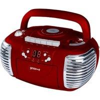 Groov-e GVPS813RD Retro Boombox Red