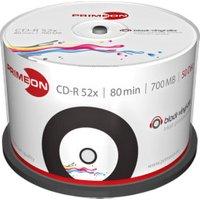 Primeon CD-R Black-Vinyl 700MB 52x printable 50er Cakebox