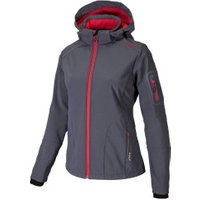 CMP Women Softshell Jacket Zip Hood (3A05396) Grey-Campari