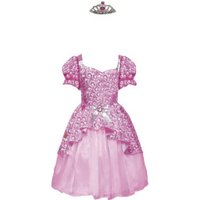 Cesar Group Barbie Princess Rosa Costume with Crown