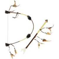 Smiffy's Set feathered indian bow and arrow