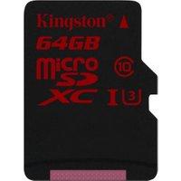 Kingston microSDXC 64GB Class 10 UHS-I U3 (SDCA3/64GB)