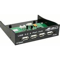 InLine USB Hub 2.0 4-port, for the 3.5 slot, black, with internal power (33393B)