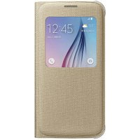Samsung S-View Cover Fabric gold (Galaxy S6)