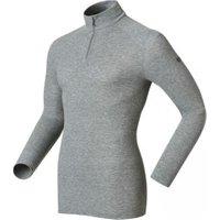 Odlo Shirt l/s Turtle Neck 1/2 Zip Warm Men grey