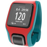 TomTom Runner Cardio GPS Watch red/turquoise