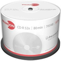 Primeon CD-R Silver-Protect-Disc 700MB 52x 50pk Cakebox