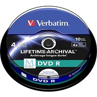 Verbatim DVD-R M-DISC 4.7GB inkjet printable 10pk spindle