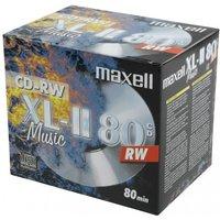 Maxell CD-RW XL-II Music 700MB 80min 52x 10pk Jewelcase