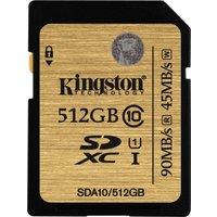 Kingston SDXC 512GB Class 10 UHS-1 (SDA10/512GB)