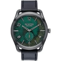 Nixon C45 Leather gunmetal/green oxyde (A465-2069)
