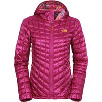 The North Face Women's Thermoball Hoodie Jacket Dramatic Plum/ Geo Floral Print
