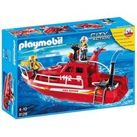 Playmobil Rescue - Fire Rescue Boat with Pump (3128-B)