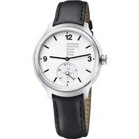 Mondaine Helvetica 1 Smartwatch silver Leather black