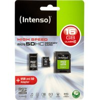 Intenso microSDHC Class 10 Adapter Set 16GB