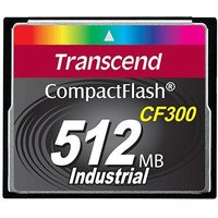 Transcend Industrial Compact Flash 512MB 300X (TS512MCF300)