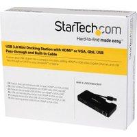 StarTech Travel Docking Station for Laptops - HDMI or VGA - USB 3.0