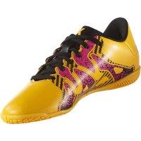 Adidas X15.4 IN J solar gold/core black/shock pink