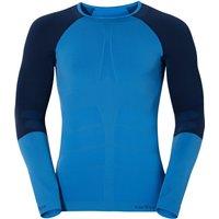 Odlo Shirt l/s Crew Neck Evolution Warm Men (180902) directoire blue / navy new