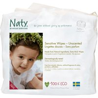 Naty Eco Sensitive Wipes - Unscented Triple Pack (168 pcs)