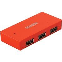 Sweex 4 Port USB 2.0 Hub London red