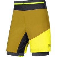 Gore Fusion 2in1 Shorts golden oak/cadmium yellow (TSTULT)
